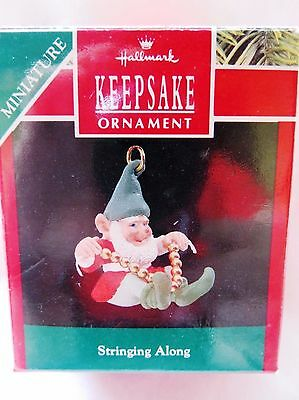 1990 Hallmark Miniature Christmas Ornament STRINGING ALONG