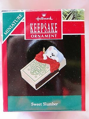 1990 Hallmark Keepsake Miniature Christmas Ornament SWEET SLUMBER