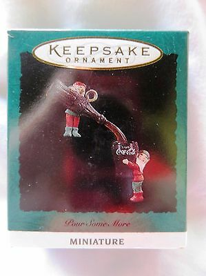 1993 Hallmark Miniature Christmas Ornament COCA COLA POUR SOME MORE