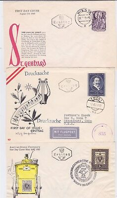 Austria Old Fdc Cover Collection 1949-1955