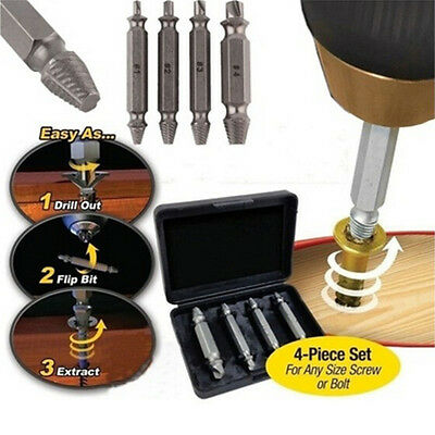 Screw Extractor Breakage Bolt Extractor Drill Set Broken Easy Out Fastener FO