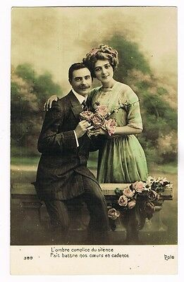 CPA coul. Couple amoureux - 1911