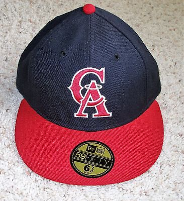 CALIFORNIA ANGELS (ANAHEIM) NEW ERA 59 fifty HAT CAP Cooperstown 6 7/8  NEW