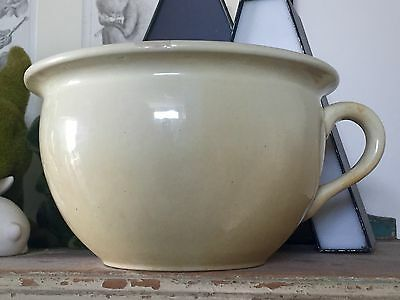 Vintage Retro Australian Fowler Ware Pottery Chamber Pot Potty Antique Bowl Cup