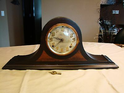 E. Ingraham Camelback Clock Hera - 1872 Clock Runs Good Chime Needs Repair
