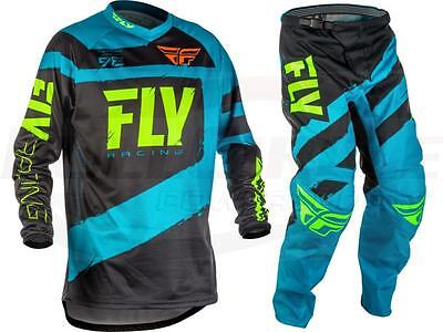 Fly Racing Blue F-16 Jersey & Pant Combo Set MX/ATV/BMX/MTB 2018 Riding Gear