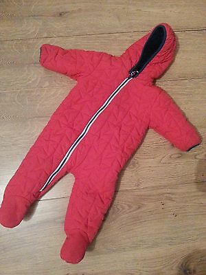 Baby Boys red snowsuit 6-9 months Next