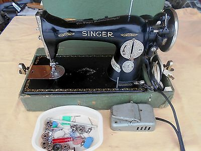 Vintage Singer Sewing Machine Class 15-91 Potted Motor JA912934 Gear Driven 1924