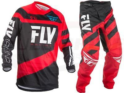 Fly Racing Red F-16 Jersey & Pant Combo Set MX/ATV/BMX/MTB 2018 Riding Gear