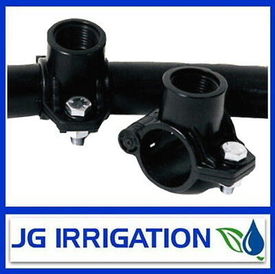 """Tapping Saddle – Rural B Poly Pipe – Irrigation – Sprinklers - 1 1/2""""x 3/4"""" -..."""