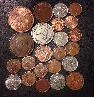 Old Australia/New Zealand Coin Lot - 1941-PRESENT - 23 Great Coins - Lot #816