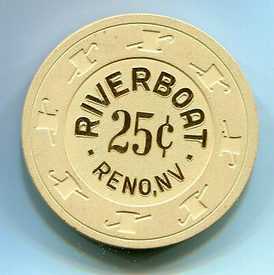 Fractional Chip 25 cent Riverboat Casino Reno NV