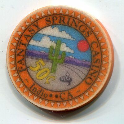 Fractional Chip 50 cent Fantasy Springs Casino Indio CA