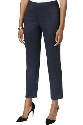 Tommy Hilfiger NEW Blue Womens Size 6 Tapered Ponte Denim Ankle Pants $89 146