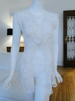 Circa 1900, Ladies Irish Crochet Lace Bolero Jacket