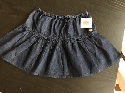 NWT Juicy Couture Denim Jean Skirt Toddler Girls Size 4T Blue