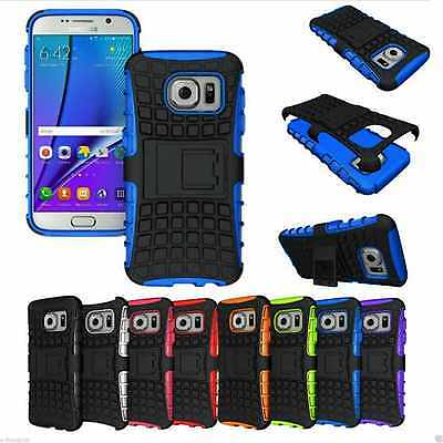 Armour Shock Proof Builders Tyre Silicone  stand Case Cover Samsung Galaxy S6