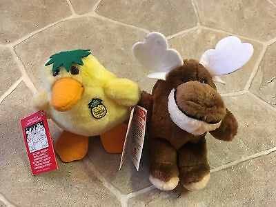 Vintage 1986 Dairy Queen Pineapple Penguin & Marshmallo Moose