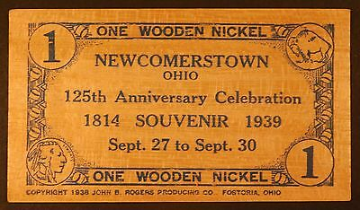 Newcomerstown, PA Wooden Nickel