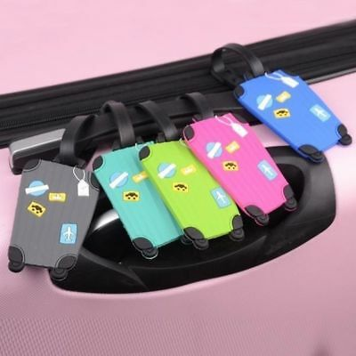 Holder Baggage Travel Identifier  Label Luggage Tags Silicone Address Suitcase
