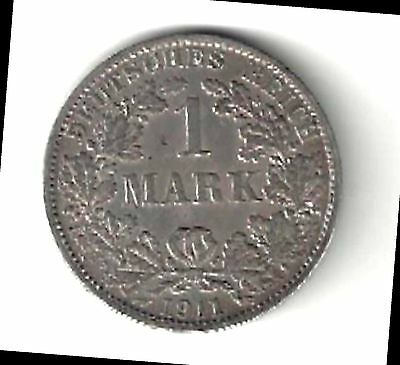 Germany - One Mark, 1911-A - Silver