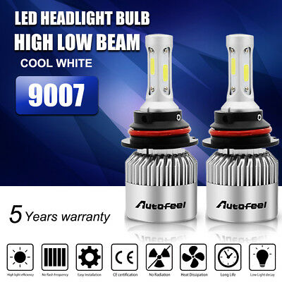 2X 9007 HB5 388W 38800LM Lumileds LED Headlight Bulbs Kit Hi/Lo Beam 6500K White