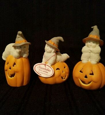 """HALLOWEEN SNOWBABIES """"Three Happy Witches""""  •2002• Mint Condition • retired 2004"""