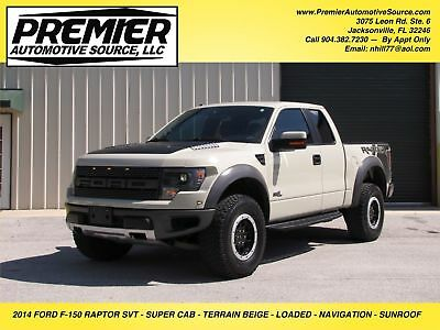 2014 Ford F-150 SVT RAPTOR EXTENDED CAB RARE COLOR TERRAIN TAN FORD SVT RAPTOR SUPERCAB CLEAN LOW MILES LOADED