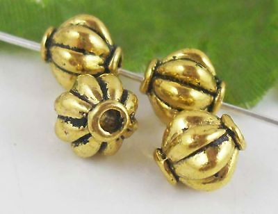 30Pcs Gold Plated (Lead-Free)Spacer Beads Findings 8x8mm