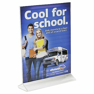 "Azar 8.5"" x 11"" Top-Load Clear Acrylic Sign Holder, 10/Pack (142715)"