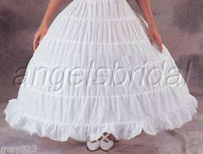 5 Hoop Bridal Wedding Gown Dress Medieval Costume Petticoat Crinoline Skirt Slip