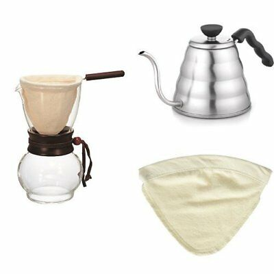 HARIO Nell drip pot & drip kettle & change cloth for 3-4 cups set From Japan