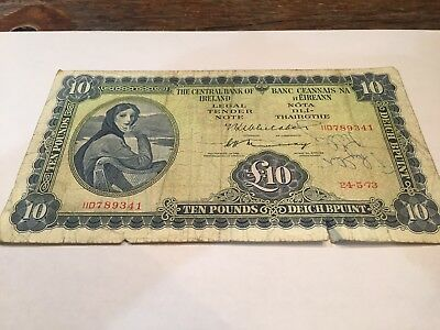 10 Pounds From Ireland 1973 - Rarer Date