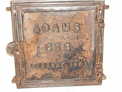 Antique! ADAMS Dubuque, Iowa  8 X 8 Door Wood Coal Cast Iron Furnace Stove Part