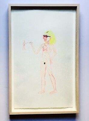 Aurel Schmidt Self Portrait Pastel on Paper dan colen kaws tauba dash snow art