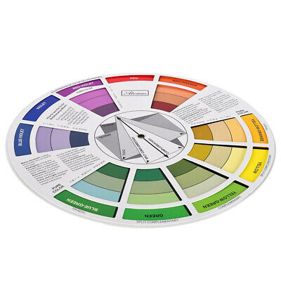 Artist Tattoo Pigment Paint Color Mixing Guide Harmony Wheel Matching Chart