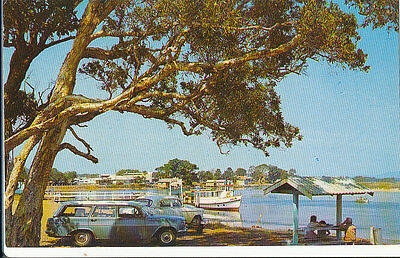 """FORSTER, NSW,   Postcard """"MV JULIE, AT THE JETTY"""".  Murray."""