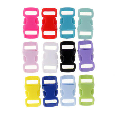 36pcs Resin Side Quick Release Safety Buckles Adjusting Clips Colors 10 mm