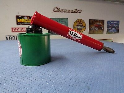 Vintage TEXACO Gasoline Station Gas Old BIG Pump Bug Insect Sprayer Can Red STAR