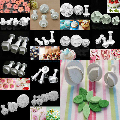 Fondant Sugarcraft Cake Decorating Icing Plunger Cutters baking Tools Mold Set