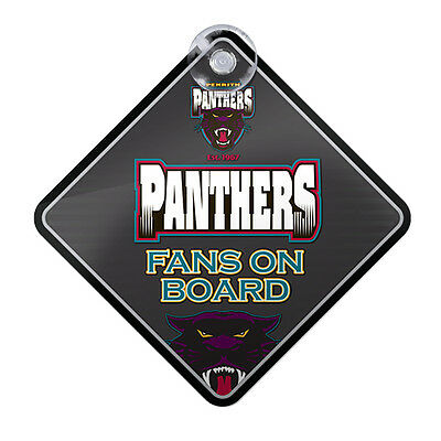 NRL Penrith Panthers Team Fans on Board Car Window Sign