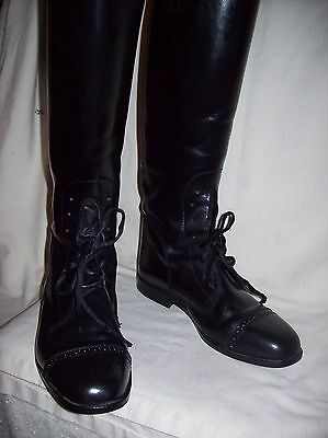 TuffRider,  Black Leather Women's, Riding Boots. size 7..