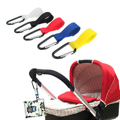 Baby Stroller Accessories Pram Hanger Strap Pushchair Bottle Bag Hooks Clip new.