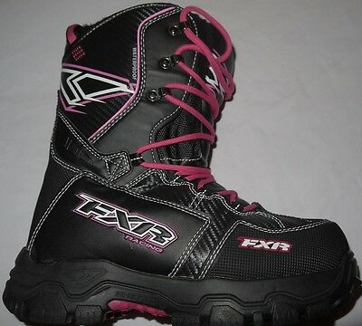 Womens BNWT Black/Pink FXR RACING Technical X CROSS Boots size 8