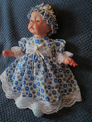** Blue/white Outfit For Reborn Doll** 19-21""