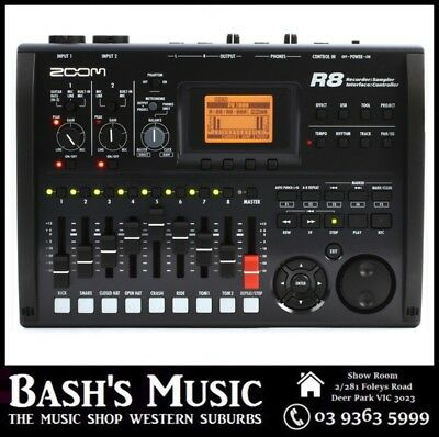 Zoom R8 8 Track Multitrack Recording Digital USB Audio Interface Recorder