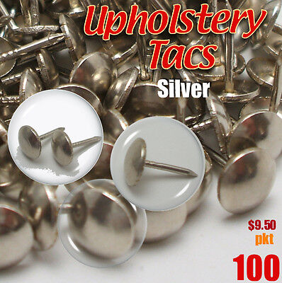Upholstery Studs Pack Antique Studs Bag 100 Tacks/Nails Tac Silver/Nickel restor