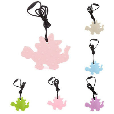 Baby Teething Pendant Necklace Silicone Chew Teether Pacifier Autism Sensory Toy
