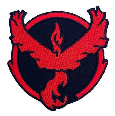 """Pokemon Go Team Valor Patch 3"""" Embroidered Sew/Iron-on Quality Emblem Badge Red"""