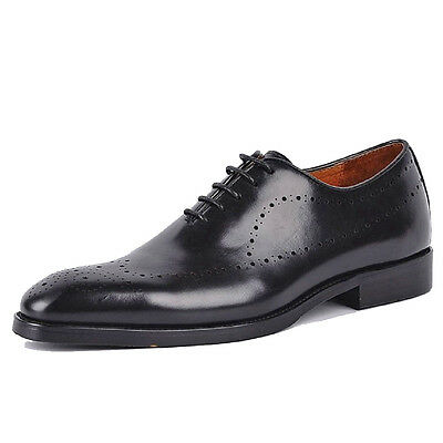 2 Color Fulinken Size 5-12 Handmade Real Leather Mens Lace Up Dress Oxford Shoes